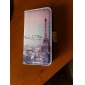 Etui en Similicuir pour iPhone 4/4S, Motif Tour Eiffel