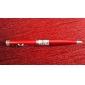 3-i-1 kulspetspenna med 2-mode vitt ljus och 5mW röd laser (3xlr41, svart bläck)