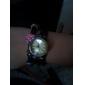 Women's UK Flag Style Leather Analog Quartz Bracelet Watch (Black)