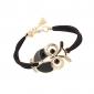 Alloy Owl Charm Sideways Leather Bracelets With an Adjustable String Bracelet