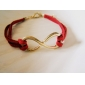 Bracelet Leather Bracelet Alloy Infinity Bracelet Friendship Bracelet Adjustable Fashion Jewelry Charm Bracelet Gold Stone1 pc Christmas Gifts