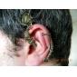 Vintage Punk Style Bronze Fly Dragon Left Ear Stud 1pcs