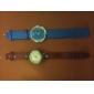 Analogt Quartz-ur med PU-band (Blandade Färger)