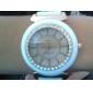 Şık Silikon Kordonlu Kuvars Kadın Kol Saati (Beyaz)