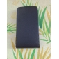 Litchi Pattern Flip PU Leather Case for iPhone 4 and 4S (Black)