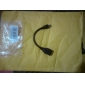 Micro USB 2.0 to USB 2.0 M/F Cable (0.2M)