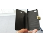 Solid Color Full Body Case with Card Slot and PC Back Cover for iPhone 4/4S (Optional Colors)
