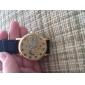 Women's Hollow Style PU Analog Mechanical Wrist Watch (Black)