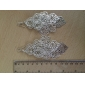 Lucky Leaf Shape Hollow Out Silver Plated Earrings