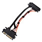 SATA to 7+15 M/F Cable 0.3M