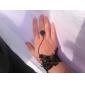 Blace Hollow-out Flower Pattern Pearl Black Lace Bracelet