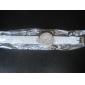 vigilanza delle donne caso diamand quarzo della fascia del silicone analogico da polso (colori assortiti)