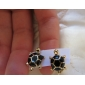 Tortoise Metal Stud Earrings