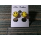 Happy Face Pendientes de acero inoxidable