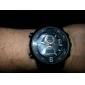 Men's Pilot Style Multi-Functional Analog-Digital Black Case Steel Band Quartz Wrist Watch (Assorted Colors)