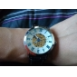 squelette PU bande analogique montre-bracelet automatique mécanique des hommes (couleurs assorties)
