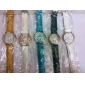 Unisex Colourful Dail PU Band Quartz Wrist Watch (Assorted Colors)