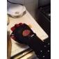 HAOMAI Black+Red PU Leather+Mesh+Microfiber Fabric Non-slip Classic Gloves
