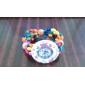 Women's Wood analoge quartz horloge armband (Multi-Colored)