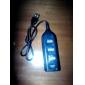 """מפצל מיני עם 4 תחנות USB 2.0 וכבל 60 ס""""מ (שחור)"""