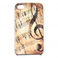 Joyland Vintage Musical Note Pattern Hard Case for iPhone 4/4S