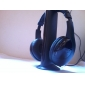 mh2001 de auriculares de 3,5 mm sobre la oreja 5 en 1 inalámbrico con radio fm micrófono para mp3 / pc / tv