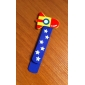 Cartoon Design Colorful Wooden Bookmark with Ruler (Random Color)