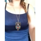 European and American trade vintage diamond owl sweater chain necklace N81