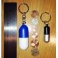 Portable Style de médecine Capsule Bottle Box Keychain Pill
