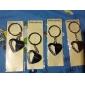 Персональный подарок 4шт Heart Shaped гравер Keycahin с горный хрусталь
