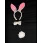 Plüsch 3-in-1 lovely white rabbit Stirnband + bow tie + tail Kostüm Set für Halloween Masquerade Party