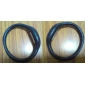 Unisex Digital Silicone Anion Band Bracelet Watch (1-Pair, Black & Blue)