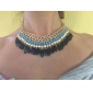 Bohemian Handmade Acrylic Water Drops Short Statement Necklace