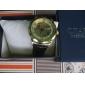남자의 금 상자 빈 본 PU 아날로그 기계적인 손목 시계 (분류 된 색깔)