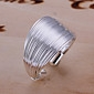 Fashion Wire Design Silver Adjustable Ring
