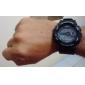 Светодиодные часы с силиконовым ремешком (черные)