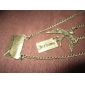 Multilayer letter envelope necklace double dove bird long sweater chain N456