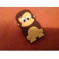 3D Design Cute Monkey Pattern Soft Case for iPod Touch 4 (Assorted Colors)