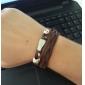 Z&X®  Angel Wings Rivet Leather Bracelet