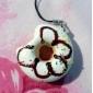 geurende zachte donut vormige sleutelhanger (verschillende kleuren)