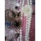 부엉이 모양 비즈 레이진 귀걸이
