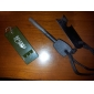 green 180G Survival Tools Flint, Whistle, Ruler with Key Chain
