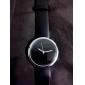 נשים האופנתי פשוט חיוג השחור PU בנד קוורץ שעון יד אנלוגית