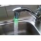 Stijlvolle, wateraangedreven LED-keukenkraanverlichting (kunststof, chroom afwerking)