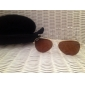 UV400 Resin Lens Glare-Guard Driving Sunglasses (Golden Frame Tawny Lens)