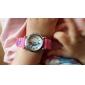 dessin animé dauphin motif rouge silicone bande de quartz analogique montre-bracelet pour enfants