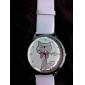 Women's Cartoon Cat Pattern White PU Band Quartz Analog Wrist Watch Cool Watches Unique Watches