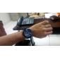 Men's Casual Style Silicone Analog Quartz Wrist Watch (Black)