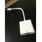 0.3M 1FT Mini DisplayPort | Thunderbolt® to to VGA Female  Cable White for MacBook Air/MacBook Pro/iMac/Mac mini