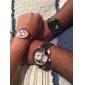 estilo militar zonas 2 tiempo de los hombres reloj de pulsera de cuarzo banda de pu